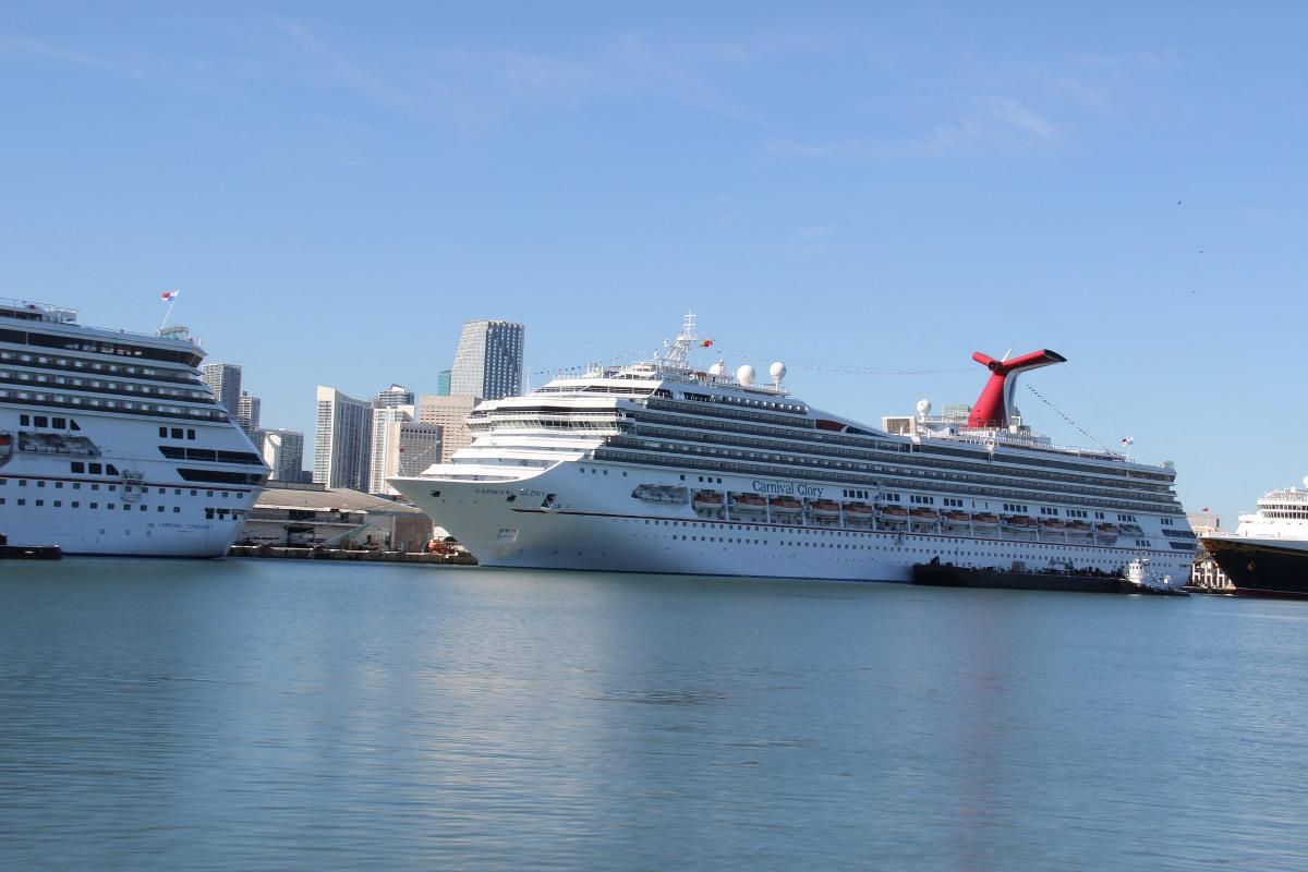 Cruise ships in Port Miami (Florida)