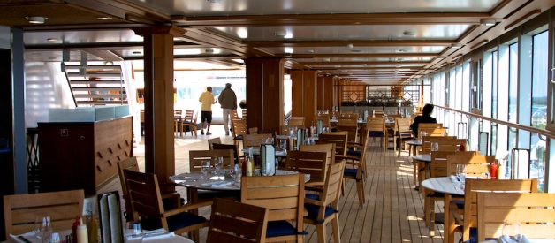Dining at the cruise ship
