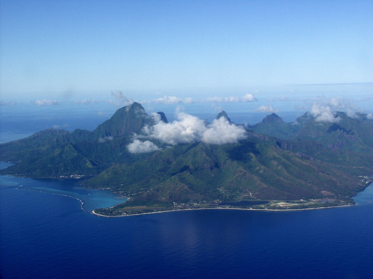 Moorea Island in French Polynesia