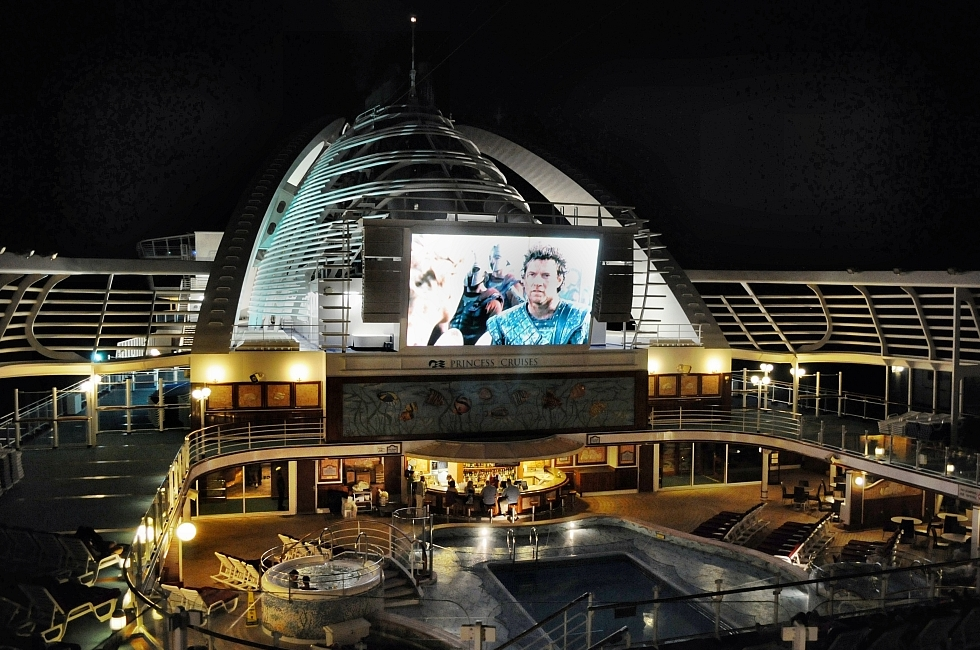 Movies at dawn for teens at Princess cruise Ships